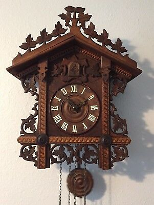 Antique 1904 Black Forest Railroad Cuckoo Clock Serviced