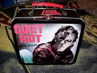 NEW Vintage Quiet Riot Metal Health Lunch Box Tin Tote Iron Maiden Kiss AC/DC