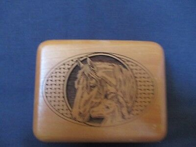 Wood Lazer Cut Box with Horse Motiff