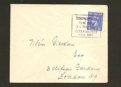 Great Britain Cover From Field Post 1942 Czechoslovakia