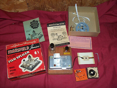 Old Mansfield Junior 8mm 16mm Silent & Sound Movie Film Splicer Splicing Vintage