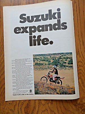 1972 Suzuki Motorcycle Ad  Expands Life