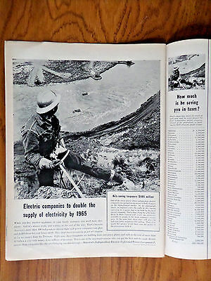 1956 Independant Electric Power Co Ad Hell's Canyon Idaho-Oregon Border