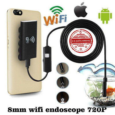 Wifi Wireless for IOS Android Endoscope HD 2.0MP 8mm 1M Video Camera Camcorder