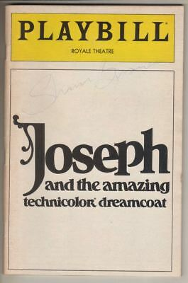 "David Cassidy ""Joseph And The Amazing ..."" Playbill 1983  SIGNED by Sharon Brown"
