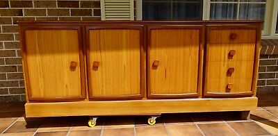Vintage (1960s) CRO Furniture Teak Hutches and Sideboard/Buffet - 3 pieces