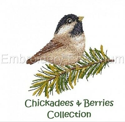 Chickadees & Berries Collection - Machine Embroidery Designs On Cd