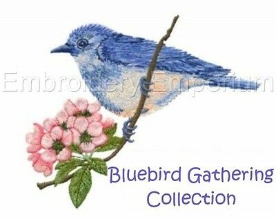 Bluebird Gathering Collection - Machine Embroidery Designs On Cd