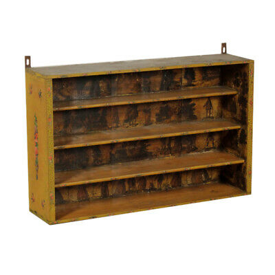Hang Bookcase Lacquered Wood Manufactured in Italy 18th Century