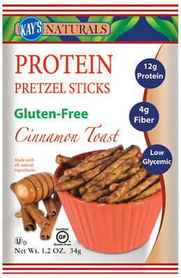 KAYS NATURALS - Cinnamon Toast Pretzel Sticks - 6 x 1.2 oz. Bags