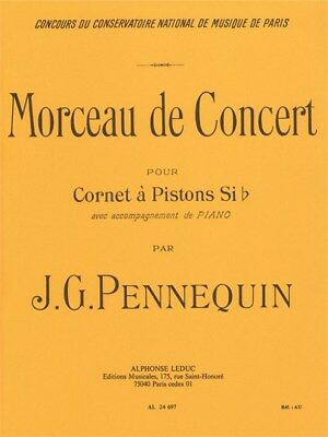 J. G. Pennequin: Morceau de Concert (Cornet and Piano). Trumpet Sheet Music