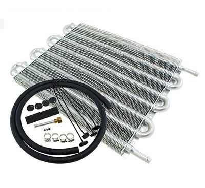 8 Row Aluminum  Auto-Manual Radiator Converter  Remote Transmission Oil Cooler