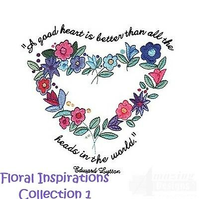 Floral Inspirations Collection 1 - Machine Embroidery Designs On Cd