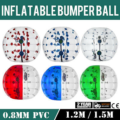 1.2/1.5M Body Inflatable Bumper Football PVC Zorb Ball Activity Child Human
