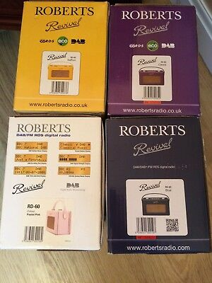 New Roberts Revival  Rd60 Dab/fm Rds Digital Radio In  4 Colours