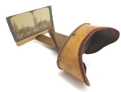 The Vistascope Griffith Stereo Betrachter Holz Viewer ca. 1910  mu004