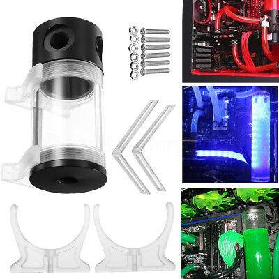 G1/4 T 50mm x 110mm Reservoir Helix Suspension Water Liquid Cooling Tank For PC