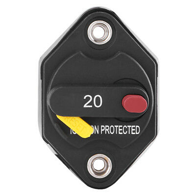 20 Amp Manual Reset Circuit Breaker Switch Car Boat Truck Marine Waterproof