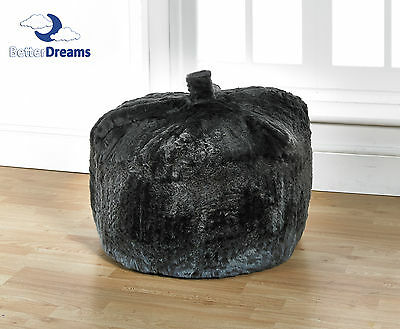 Grey Faux Fur Bean Bag Luxurious Large Grey Faux Fur Bean Bag Filled