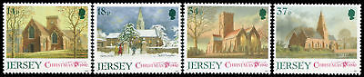 Great Britain-Jersey 549-52 MNH - Parrish Churches