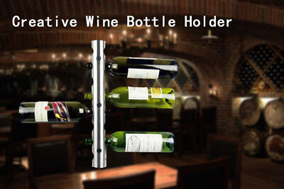 Stainless Steel Wall Mounted Wine Bottle Holder 8 Holes For Kitchen Ddining Room