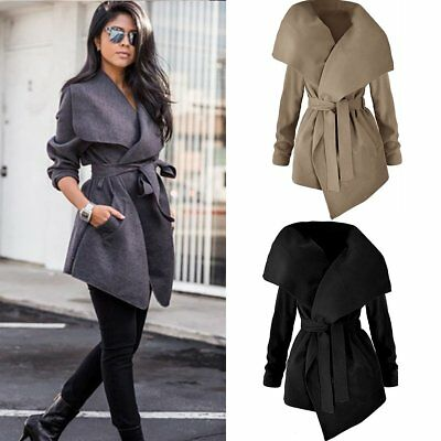 Fashion Women Ladies Winter Trench Coat Warm Parka Overcoat Long Jacket Outwear