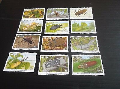 Belize 1995 Sg 1170A-1181A Insects Mnh