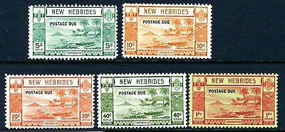 NEW HEBRIDES-1938 Postage Dues.  A lightly mounted mint set Sg D6-D10