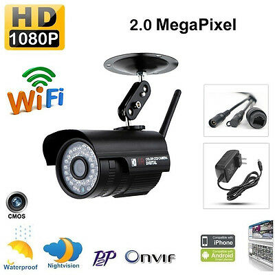 HD WiFi 720P/960P/1080P Wireless Outdoor Waterproof H.264 36 IR Bullet IP Camera
