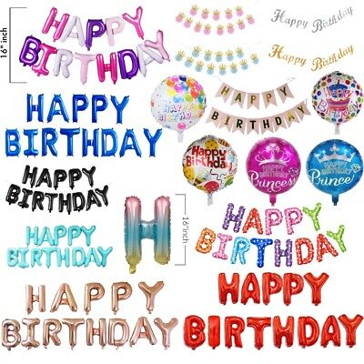 Happy Birthday Party Celebration Latex Printed Balloons Kids Party Decorations