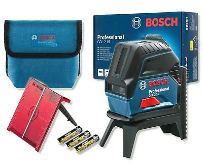 BOSCH GCL2-15 Self-Levelling Cross Line Laser & RM1 Rotating Magnetic Wall Mount
