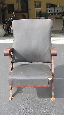 Rare! Antique Leather Chair New Hampshire House Of Representatives
