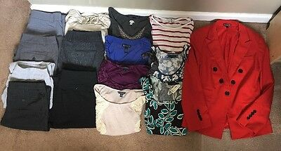 Women's Career Clothing Lot Of 15 Items Size S/M (Banana Republic, AE, INC)