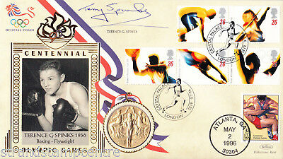 1996 Olympics - Benham Gold Medal Official - Signed by TERENCE SPINKS