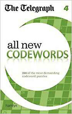 The Telegraph All New Codewords 4 (The Telegraph Puzzle Books), New, THE TELEGRA