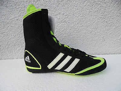 Adidas Box Rival II boxschuh boxstiefel Black Neon Green Boxing Shoes Boxes