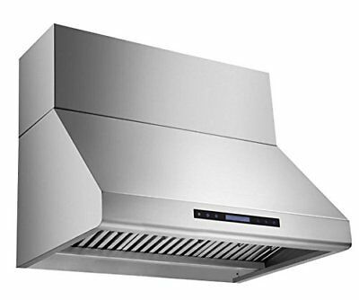 MaxAir 30 Inch wide MXR-R19 1100 CFM Duct Cover Range Hood Included