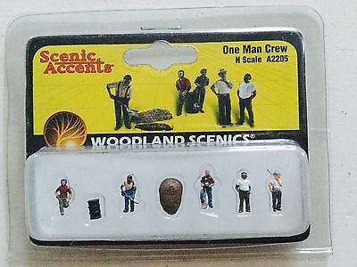 Woodland Scenics Accents 1/160 N Scale One Man Crew Item # A2205 Factory Sealed