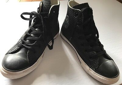 Converse All Star Chuck Taylor Rubber Black High Top Sneakers Size 2 Women's 4