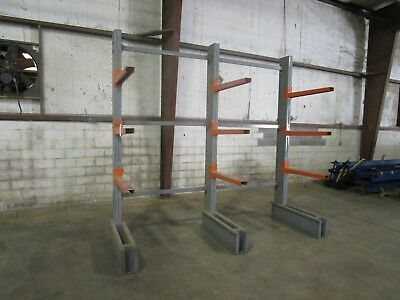 STEEL KING 2 section SINGLE SIDED CANTILEVER WOOD STEEL MATERIAL STORAGE RACK