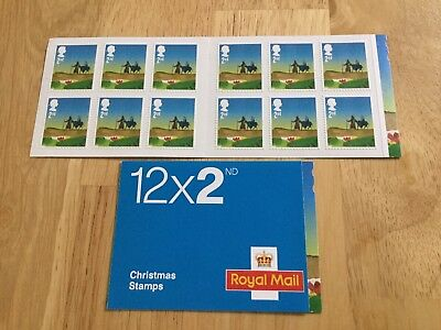 GB 2015 CHRISTMAS SELF ADHESIVE BOOKLET PM48 12 x 2nd Class LX49