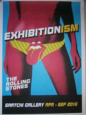 Rolling Stones poster exhibitionism  saatchi-lithograph-limited  2016-number 222