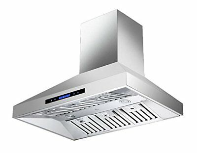MaxAir MXR-X06 30 Inch Pro Style Cooking Wall Mounted Range Hood with Chimney