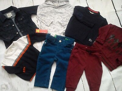 Amazing River Island Benetton Bundle Outfits Baby Boy Clothes 9/12 Mths