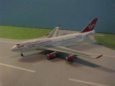 "Gemini ""sample Model"" Virgin Atlantic 747-400 1:400 Scale Diecast Metal Model"