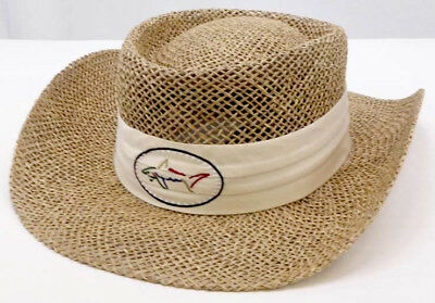 NEW - GREG NORMAN - Shark Official - Straw Hat - Natural - FREE SHIPPING fbd94c236cc5