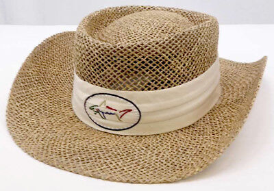 53e628ab139 NEW - GREG NORMAN - Shark Official - Straw Hat - Natural - FREE SHIPPING