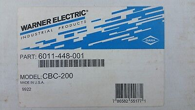 WARNER ELECTRIC 6011-448-00, CBC-200 Clutch Brake Control (New/Old Stock)