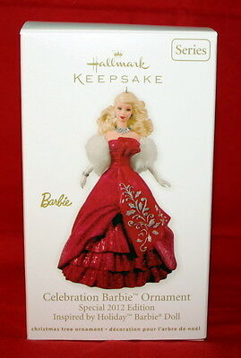 Hallmark  2012 Celebration Barbie Ornament # 13 And Final  In The Series