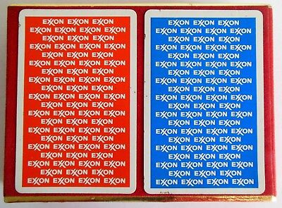 Vintage Exxon Playing Cards Congress 2 Factory Sealed Decks Gas Gasoline